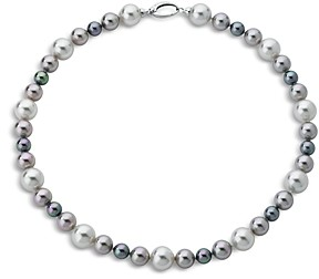 Majorica Simulated Pearl Necklace in Sterling Silver, 18