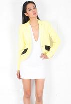 Smythe Lace Blazer in Lemon