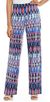 I.N. Studio Multi Ikat Stripe Print Pull-On Knit Pant