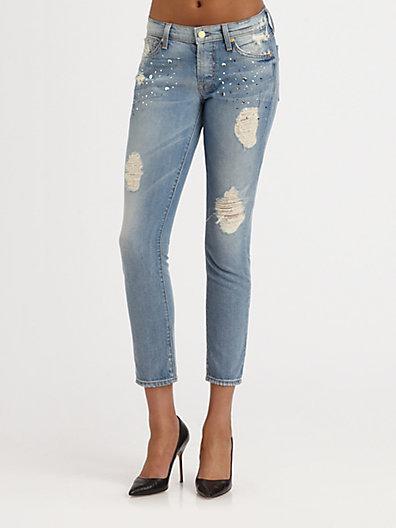 7 For All Mankind Josefina Embellished Jeans