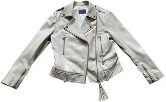Stand Studio Ecru Leather Jackets