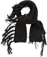 Belstaff Rib Knit Fringe Scarf