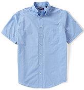 Roundtree & Yorke TravelSmart Big & Tall Short-Sleeve Solid Dobby Sportshirt