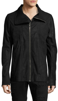 Rick Owens Bullet Leather Stand Collar Jacket