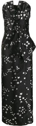 P.A.R.O.S.H. Star-Print Column Gown
