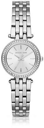 Michael Kors Darci Petite Pave Silver-Tone Watch - Silver