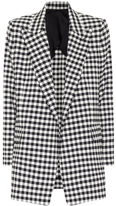 AMI Paris Gingham blazer