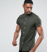 Burton Menswear Tall Short Sleeve Shirt In Waffle
