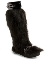 Jeffrey Campbell Women's Oh Yeah Faux Fur Knee High Boot