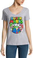 Fifth Sun Short Sleeve V Neck Super Mario Graphic T-Shirt