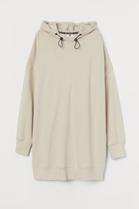 H&M Oversized Cotton Hoodie - Beige