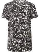 Dorothy Perkins Womens **Maternity Black Spot Flutter Sleeve Top- Black