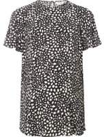 Dorothy Perkins Womens **Maternity Black Spot Flutter Sleeve Top