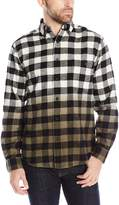 Woolrich Men's Trout Run Dip-Dye Flannel Shirt Modern Fit