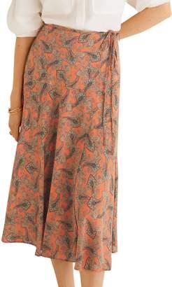 MANGO Paisley Patterned Midi Skirt