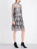 Sharon Wauchob Metallic silk lace dress