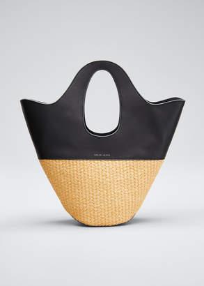 Danse Lente Two-Tone Top Handle Tote Bag, Black