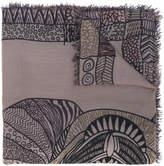 Hemisphere printed scarf