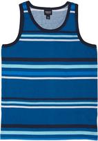 Medium Blue & Light Blue Stripe Tank - Toddler & Boys