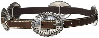M&F Western Nocona Oval Concho Belt (Brown) Women's Belts