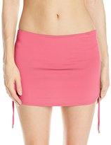 Calvin Klein Women's Side Shirred Skirted Bikini Bottom