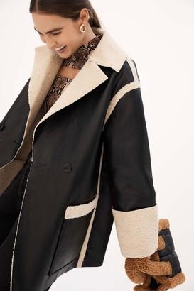 Proenza White Label Faux Sherpa Reversible Coat