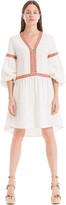 Max Studio Embroidered Blouson-Sleeve Dress