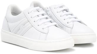 Hogan Side Zipped Low Top Sneakers