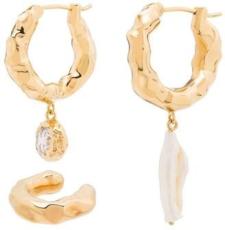 Joanna Laura Constantine Crystal Drop Hoop Earrings