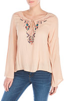 Angie Embroidered Bell Sleeves Top