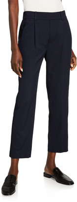 Vince Mid-Rise Straight Pull-On Pants