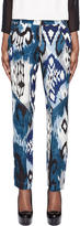 Altuzarra Blue Printed Silk Simba Trousers