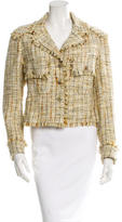 Chanel Tweed Fringe-Trimmed Jacket