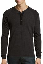 Splendid Mills Henley Long Sleeve Textured Tee