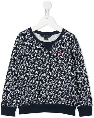 Ralph Lauren Kids Floral-Print Logo Sweatshirt