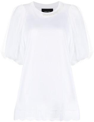 Simone Rocha pearl-embellished T-shirt