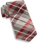Gold Series Wide Grid Tie With Tie Bar Casual Male XL Big & Tall