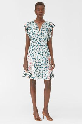 Rebecca Taylor Serene Fleur Print Mix Dress