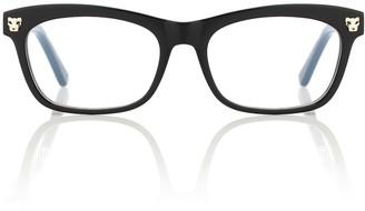Cartier Eyewear Collection Panthere de Cartier acetate glasses