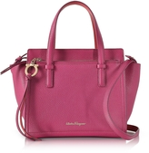 Salvatore Ferragamo Amy Sangria Small Leather Handbag