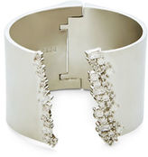 BCBGMAXAZRIA Cubic Zirconia and Brass Open Cuff Bracelet