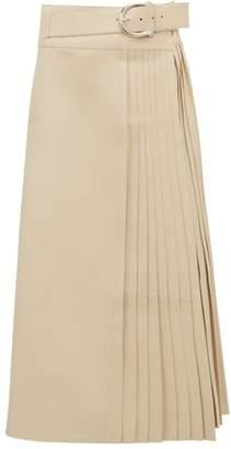Dodo Bar Or Estelle Pleated Leather Skirt - Womens - Ivory