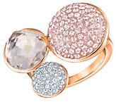 Swarovski Rose Goldplated Crystal-Station Ring
