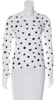 Comme des Garcons Long Sleeve Polka Dot Top