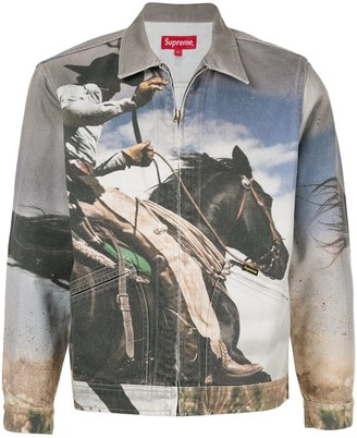 Supreme Cowboy-print denim work jacket