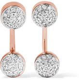 Monica Vinader Fiji Rose Gold Vermeil Diamond Earrings