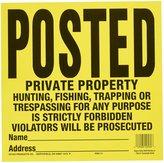 """HY-KO PROD CO Sign, """"Private Property"""", & Black Tyvek, 12 x 12-In., 10-Pk."""