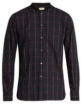 MAISON KITSUNÉ Checked cotton-flannel shirt
