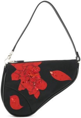 Christian Dior Pre Owned Saddle beads Spangle bag