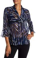 Joe Fresh Sheer Print Blouse